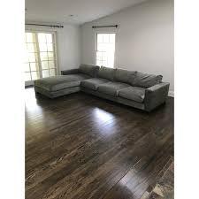 grey velvet sectional. Custom Grey Velvet Sectional Sofa For Sale In Los Angeles - Image 6 Of I