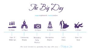 Wedding Schedule Diy Wedding Schedule Crinks Crafts