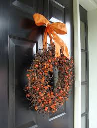 ... Good Looking Idea For Halloween Door Decoration Idea : Interactive  Front Porch Decoration Using Round Orange