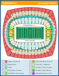 Arrowhead Stadium Seating Chart With Rows Arrowhead Stadium Mapa Asientos Imagenes Direcciones Y