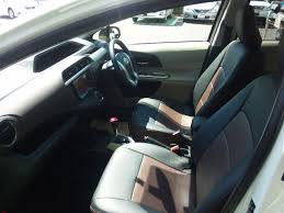 prius c seat covers beautiful toyota prius c aqua genuine rhd like leather seat covers of