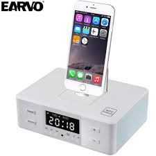 Multifunctional Gadget Portable Alarm Clock NFC FM Radio Charger Dock Phone  Station Speaker for iPod iPhone 5 6 7 SE Player