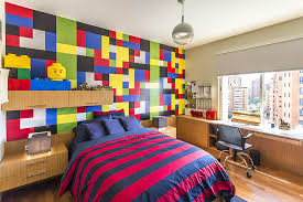lego furniture for kids rooms. classic colors lego room design idea lego furniture for kids rooms