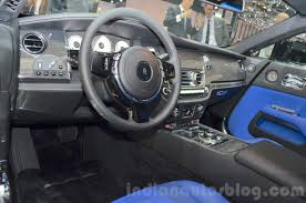 rolls royce wraith interior black. rolls royce wraith black badge edition blue interior at 2016 geneva motor show l