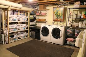 Unfinished Basement Laundry Room Ideas - Ununfinished basement before and after