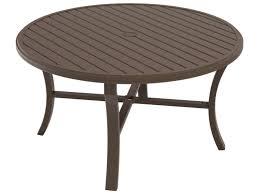 tropitone banchetto aluminum 54 round dining table with umbrella hole