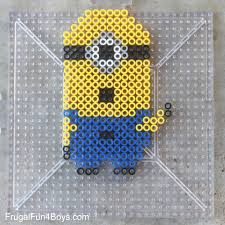 Perler Bead Pattern Classy Minions Perler Bead Patterns Frugal Fun For Boys And Girls