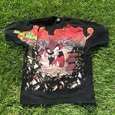 Vintage Space Jam Looney Tunes Taz T-shirt Original... - Depop