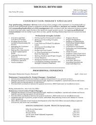 Sample Resume For Assistant Project Manager Construction Best Of