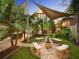 Small Picture garden design using pavers with outdoor dining shade sail