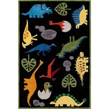 momeni ca dinosaurs black 8 ft x 10 ft indoor area rug