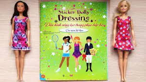 Dán hình trang điểm váy đầm búp bê - Tập 8 Các môn thể thao - Sticker dolly  dressing (Chim Xinh) - YouTube