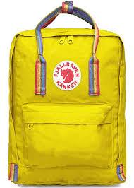 <b>Рюкзак</b> Fjallraven KANKEN Classic Желтый с радужными ручками ...