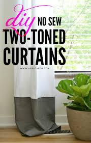 Diy No Sew Curtains Livelovediy Diy No Sew Two Toned Curtains