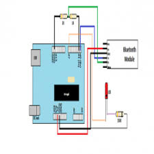 arduino tutorial blink an led using bluetooth engineersgarage led blink using arduino over bluetooth circuit diagram