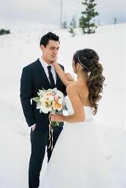 海外風花嫁になれる王道モテヘアポニーテールのブライダルヘア