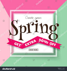 Create Your Invitation Spring Sale Backgroun Create Your Spring Stock Vector Royalty Free