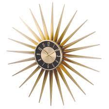 metal sunburst wall clock