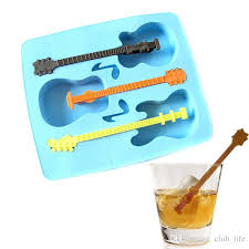 2018 hot new ice mould drinking tool tray mold makes ice guitar novelty gifts ice tray and cube from club life 2 79 dhgate