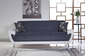 Two Tone Living Room Furniture Sofa Bed Cozy Gray Sunset Two Tone Fabric Leatherette