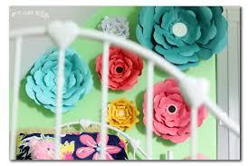 diy paper wall flowers decor
