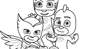 Pj Masks Coloring Pages Games Print Junior Masks Coloring Pages