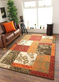 good orange and green rug for warm red burnt orange brown cream cosy patchwork family fresh orange and green rug