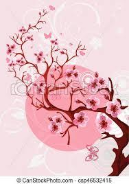 Cherry Blossom Background Beautiful Spring Nature Scene