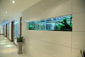 Small Picture The aquariums sleek lines follow the wall panelling to give a