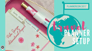 Personal Vacation Planner What S In My Plannercon 2017 Travel Vacation Planner Personal Planner Setup