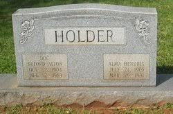 Alma Hendrix Holder (1905-1991) - Find A Grave Memorial