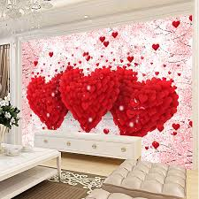 custom 3d mural wallpaper bedroom tv backdrop wall painting modern romantic three dimensional love home