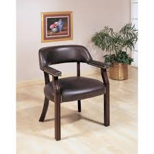 upholstered office chairs. office chairs traditional upholstered vinyl side chair with nailhead trimbrown
