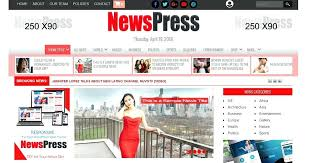 Newspaper Website Template Free Download Online Newspaper Template News Layout Template Online