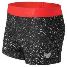 New Balance 71127 Women's <b>Accelerate Printed Hot Short</b> - Black ...