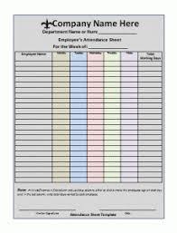 Attendance Sheet Template Forms For Office Etc Attendance Sheet