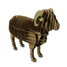oyuncak 3d puzzle sheep cardboard animal craft paper model kids educational toys diy jigsaw puzzles papercraft art children gift in puzzles from toys