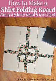 how to make a shirt folding board using a tri fold science board and duct