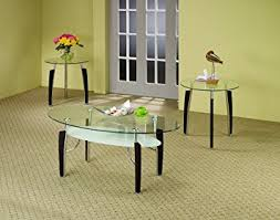 Coaster 701558 3 Piece Occasional Table Set With Glass Top