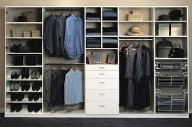 white melamine custom closet