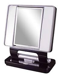 ottlite natural daylight makeup mirror 5x 1x magnification 26w dual sided black