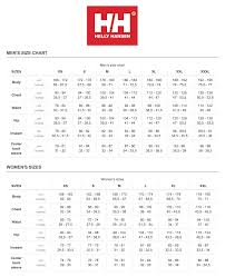 Helly Hansen Jacket Size Chart Helly Hansen Ladies Hp Fjord Jacket
