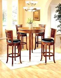 round pub table set small bistro 3 sets and high outdoor