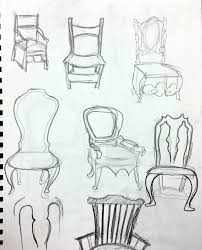 chair drawing. drawings by ricky lopez chair drawing l