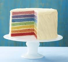 Image result for rainbow cake