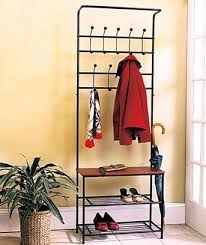 Entryway Coat Racks Adorable Amazon 32 X Metal Entryway Storage Bench With Coat Rack Kitchen