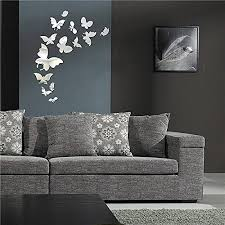mirror wall decor home inspira butterfly mirror wall decals removable diy 3d mirrors wall stickers acrylic art home decorative for living room kids bedroom  on diy 3d mirror wall art with mirror wall decor home inspira butterfly mirror wall decals