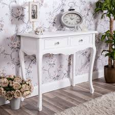 details about white dressing console table shabby vintage french chic bedroom furniture home