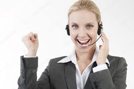 Happy Customer Service Representative Stock Photo Stefanolunardi