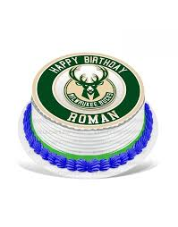 All orders are custom made and most ship worldwide within 24 hours. Milwaukee Bucks Edible Cake Topper
